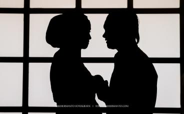 prewedding hijab siluet
